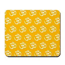 Om, Ohm, Yoga, SUNSHINE YELLOW Mousepad