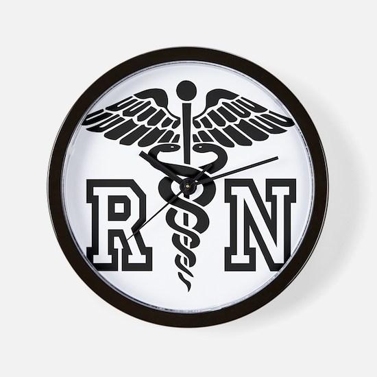 RN Nurse Caduceus Wall Clock