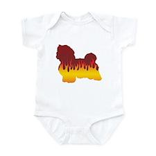 Havanese Flames Infant Bodysuit