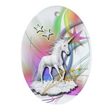 Magical Unicorn Oval Ornament