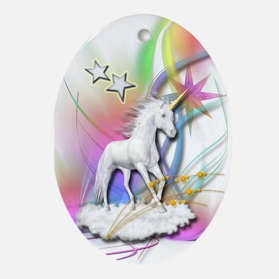 Magical Unicorn Oval Ornament