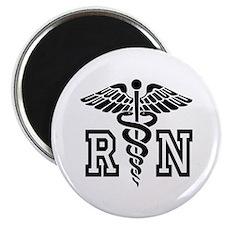 RN Nurse Caduceus Magnets