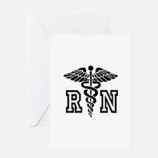 RN Nurse Caduceus Greeting Cards