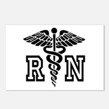 RN Nurse Caduceus Postcards (Package of 8)