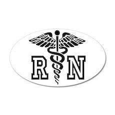 RN Nurse Caduceus Wall Decal