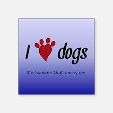 I Heart Dogs Sticker