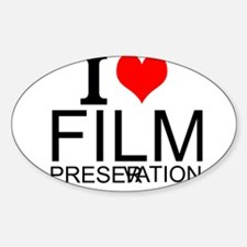I Love Film Preservation Decal
