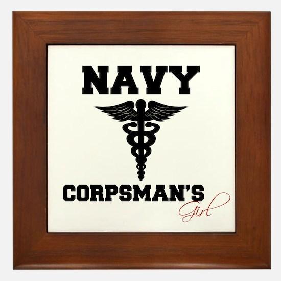 Navy Corpsman's Girl Framed Tile