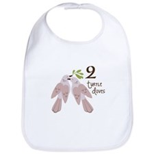 2 Turtle Doves Bib