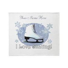 I Love Skating! Throw Blanket