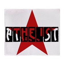 Atheist Star Throw Blanket