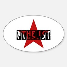 Atheist Star Sticker (Oval)