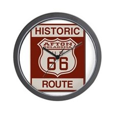 Afton Route 66 Wall Clock