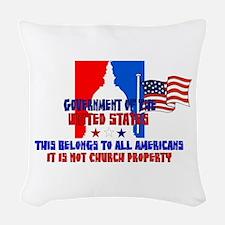 Not Church Property Woven Throw Pillow