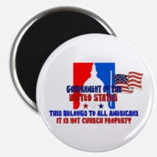 """Not Church Property 2.25"""" Magnet (10 pack)"""