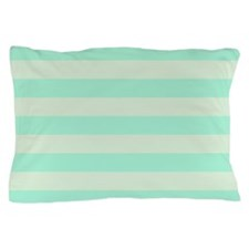 Green Mint Stripes Pillow Case