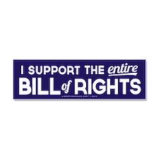 Bill of Rights Car Magnet 10 x 3