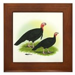 Black Turkeys Framed Tile