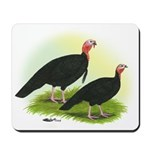 Black Turkeys Mousepad