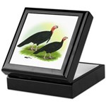 Black Turkeys Keepsake Box