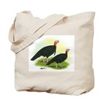 Black Turkeys Tote Bag