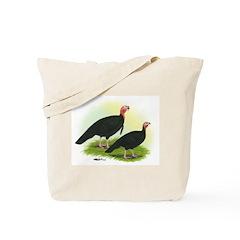 Black Turkeys Tote Bag