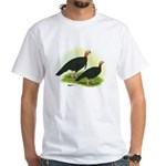 Black Turkeys White T-Shirt