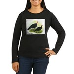 Black Turkeys Women's Long Sleeve Dark T-Shirt