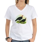 Black Turkeys Women's V-Neck T-Shirt