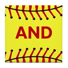 Keep Calm and Play Softball Original Tile Coaster