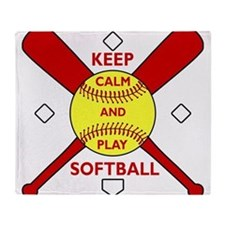 Keep Calm and Play Softball Original Throw Blanket