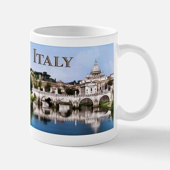 Vatican City Seen from Tiber River text ITALY cop