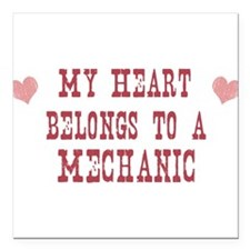 "Cool Mechanic career Square Car Magnet 3"" x 3"""