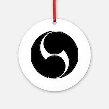 Two counterclockwise swirls Ornament (Round)