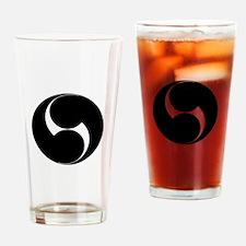 Two counterclockwise swirls Drinking Glass