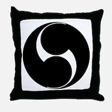 Two counterclockwise swirls Throw Pillow