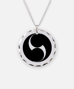 Two counterclockwise swirls Necklace