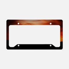 Sunset Texas Red Silhouette B License Plate Holder
