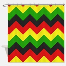Reggae Chevron Shower Curtain