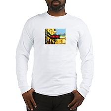 pARIS mETRO tRAVEL pOSTER Long Sleeve T-Shirt