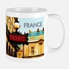 pARIS mETRO tRAVEL fRANCE Mugs
