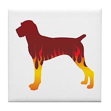 Pointer Flames Tile Coaster