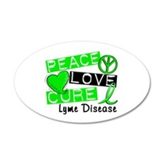 Lyme Disease PeaceLoveCure1 Wall Decal