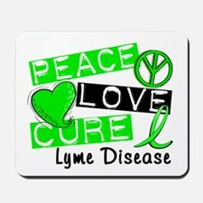 Lyme Disease PeaceLoveCure1 Mousepad