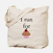 I Run For Cupcakes Tote Bag