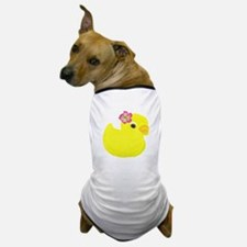 Duck with a Flower in Hair Dog T-Shirt