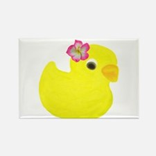 Duck with a Flower in Hair Magnets