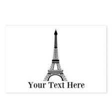 Personalizable Eiffel Tower Postcards (Package of