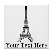Personalizable Eiffel Tower Tile Coaster