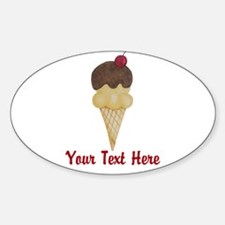 Personalizable Double Scoop Ice Cream Decal